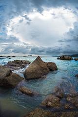Art of nature (aludatan) Tags: ocean blue sea sky cloud nature water rock landscape outdoor fisheye malaysia penang amateurs club16