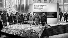 Rotterdammers and their City (John Riper) Tags: street city people bw white black art scale public netherlands monochrome museum architecture canon john photography mono hall model rotterdam zwartwit l stadhuis maquette 6d 24105 straatfotografie rodezand riper stadstimmerhuis johnriper photingo