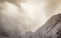 Striding Edge (RobGrahamPhotography) Tags: park winter light england mountain lake snow mountains canon landscape landscapes britain hiking district ridge wainwright national edge cumbria helvellyn 6d arete striding
