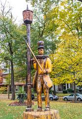 St. James Court Lamplighter (Eridony (Instagram: eridony_prime)) Tags: sculpture art kentucky louisville publicart woodcarving historicdistrict jeffersoncounty oldlouisville