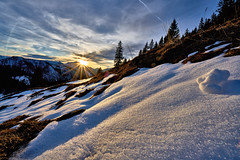 Alpine Winter Sunset (W_von_S) Tags: schnee winter light sunset sun snow mountains alps reflection nature germany landscape bayern deutschland bavaria licht shadows outdoor sony natur berge alpine alpen february landschaft sonne reflexion schatten sonnenstrahlen snowscape februar werner snowlandscape schneelandschaft 2016 sudelfeld naturesfinest sonnenstern wvons alpha7rm2 alpinewintersunset