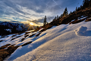 Alpine Winter Sunset