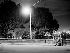 long nights (spacemanjones) Tags: longexposure urban blackandwhite film stand bart urbanexploration hp5 ilford bartstation filmphotography homedeveloped standdevelopment filmisnotdead hp5400 urbanex homedevelopment