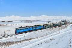 Winter train ... (N.Batkhurel) Tags: winter snow season nikon ngc railway trains locomotive railfan trainspotting 1520 passengertrain diesellocomotive nikondf