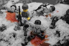 Alone (Lt. Steve) Tags: winter snow alone lego ww2 russian