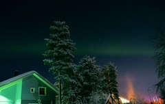 A Band of Aurora by Teresa Cooper (tc2084) Tags: travel trees snow ski tourism beautiful finland season photography lights scenery photographer band astrophotography aurora lapland levi northern borealis