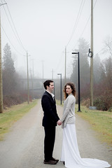 She Stole His Heart (Sabrina Chevallier Photography) Tags: fog vancouver vancouverbc manandwoman vancouverphotography vancouverphotogrpher