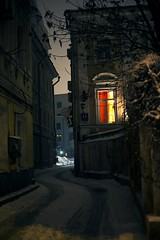 Moscow (Annikki photography) Tags: street old travel winter light home window architecture illustration night russia moscow tail fairy