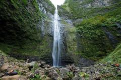 Hanakapi'ai Falls (Kelsie DiPerna) Tags: vacation nature canon landscape outdoors hawaii coast waterfall paradise natural kauai hawaiian tropical kalalau tropics napali hanakapiai