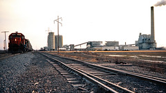 AA, Dundee, Michigan, 1975 (railphotoart) Tags: unitedstates dundee michigan cement nb aa stillimage tf5