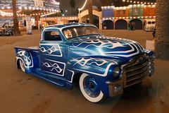 'Blue Moon' GMC (bballchico) Tags: pickuptruck scallops chopped custom gmc bluemoon grandnationalroadstershow georgetantardini gnrs2016