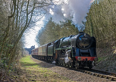 Northerly (4486Merlin) Tags: england europe leicestershire unitedkingdom leicester transport steam railways midlands gbr greatcentralrailway heritagerailways 92214 exbr brstd9f2100 eastervintagefestival