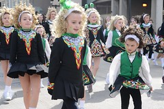 Following her lead (mobybick2) Tags: irish wisconsin energy dancers milwaukee stpatricksparade younggirls irishdance