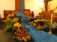 DSC04292 (Michael S in Seattle) Tags: sacredspace worshiparts wallingfordumc sanctuarydecorations easter2016 riverofbaptism