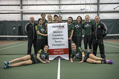 PandasBanner (Don Voaklander) Tags: woman male men college sports sport female community women university edmonton tennis varsity cis pandas womens canada west centre interuniversity university canadian mens alberta sport voaklander saville donvoaklander