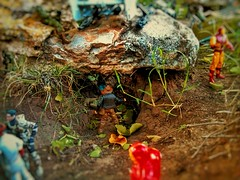 Ancient artifacts in lost places... in our backyard (shefner77) Tags: family summer man nature fun lost toys temple jones ancient backyard rocks iron action dr glory small indiana tunnel super fortune adventure fantasy figure doom cave amateur archeology artifacts hasbro raiders 375