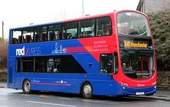 Transdev Lancashire United 3605 X5 VTD at Intack with a morning X41 'Red Express' service to Manchester (Gobbiner) Tags: manchester volvo blackburn gemini 3605 x41 wrightbus redexpress transdev lancashireunited intack yc53mxr x5vtd