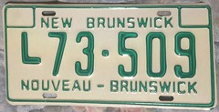 NEW BRUNSWICK 1980'S ---LIVERY LICENSE PLATE (woody1778a) Tags: canada taxi nb licenseplate collection newbrunswick 1980s numberplate livery mycollection myhobby