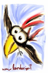 Get out of the way! I'm landing.. (sorpresina) Tags: paint finger fingerpaint
