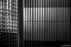 Thalassic (laura.hacking) Tags: uk nightphotography windows urban blackandwhite abstract texture glass monochrome lines vertical metal night contrast port dark mono evening twilight northwest outdoor wide location textures form shape tones modernarchitecture bnw fineartphotography blackandwhitephotography