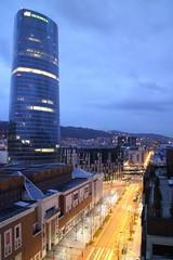 Bilbao - noche vista hacia la calle Lehendakari Leizaola (Towner Images) Tags: street city urban calle spain bilbao vista basque kalea iberdrola towner townerimages lehendakarileizaola