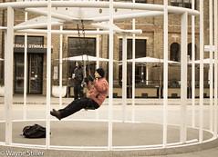 Urban gym (Wayne Stiller) Tags: street people building london st site construction cross kings pancras