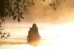 Tribes in the mist (ramosblancor) Tags: morning light people mist luz maana fog boat mujer barca gente maya guatemala canoe mayan tribes oldwoman cultures niebla humans canoa humanos culturas seora manglar mangroveswamp tribus rodulce elgolfete