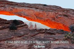 Mesa Arch Revisited (kathymyrick) Tags: sunrise canyonlands mesaarch