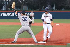 Got Back (RPahre) Tags: illinois baseball pennstate universityofillinois urbana steal firstbase adamwalton tylerkendall