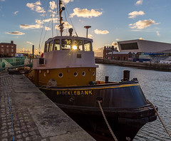 Sunburst through the Brocklebank (SiKenyonImages) Tags: sunset sky liverpool boats wideangle albertdock merseyside sunstar