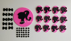 Cake + Cupcake toppers (arce baked goods) Tags: cake cupcakes barbie edible torta toppers adornos