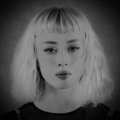 Ghostly. (Cycling Saint) Tags: people blackandwhite monochrome portraits leicester prettygirl studioshots nikond3nikkor85mmf18