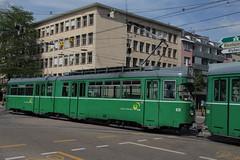 626 (KennyKanal) Tags: tram basel grn bvb basler verkehrsbetriebe dwag schienenfahrzeug drmmli