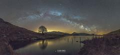 T R I B U T E (elganjones1) Tags: uk lake wales jones cymru astrophotography snowdonia milkyway llyn dywarchen elgan