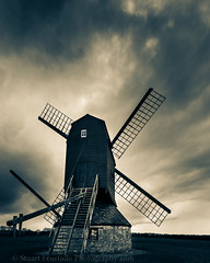 Stevington windmill (Stuart Feurtado) Tags: cloud storm sepia nikon moody beds bedfordshire duotoned stevington stevingtonwindmill steventonwindmill