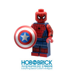 "MARVEL_SPIDER-MAN(ver.Civil war CUSTOM BY ""HOBBY BRICK"" (zerobaek0100) Tags: man brick shop america spider open lego unique hobby special civilwar captain online shield minifig custom marvel edition collector"