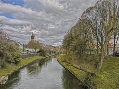 roermond de Ster rur IMG_4417 (seyjo) Tags: church river places location maas hdr roermond urbanscape historiccity rur dutchcity steenenbrug seyjo