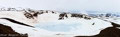 Viti explosion crater - frozen lake - iceland (funkytravel) Tags: blue winter panorama lake green ice nature rock landscape volcano lava frozen iceland north explosion wanderlust crater nordic myvatn islande viti