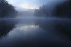 Dawn at Mill Creek Lake (MarcusDC) Tags: morning reflection water fog ethereal redrivergorge danielboonenationalforest millcreeklake