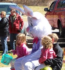 Easter Bunny Photo Op (ironmike9) Tags: railroad station children railway rr depot passenger easterbunny adirondackscenicrailroad remsenny