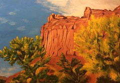 6th painting - Landscape (retouch) (webloreArt) Tags: painting landscape utah southern capitolreef fruita