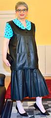 Ingrid021704 (ingrid_bach61) Tags: leather skirt blouse mature leder waistcoat bluse pleated weste faltenrock