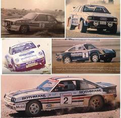 All the Group B Rally cars that Saeed alhajri drove during his successful career (ad1661) Tags: uk germany automobile rally automotive racing qatar porsche911 groupb 959 audiquattro rothmans  porsche959 opelmanta   opelascona  audiquattrosport saeedalhajri  porsche911groupb