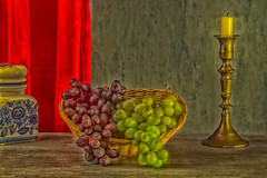 grapes (t.boelaars) Tags: red white candle grapes