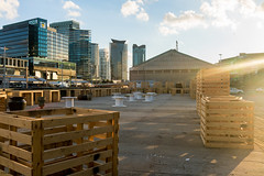 Crate-land ? (Derek Midgley) Tags: sunshine wooden docklands boxes crates dsc03370