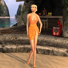 Summer Knit Dress (EmmaLee Streeter) Tags: summer beach fashion photography blog model secondlife hh swank homage js chopzuey hillyhaalan