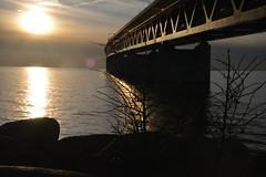 DSC_5355 (kalubro) Tags: sunset sky cloud water denmark shadows himmel bro vatten brigde solnedgng skugga moln resundsbron swe
