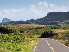 falling rocks (dolanh) Tags: road hawaii maui nakaleleblowhole kahekilihighway
