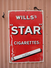 Old Sign Wills's Star cigarettes IMG_6011 (rowchester) Tags: star cigarette wills tobacco