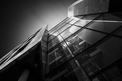 Isolated Vision Series : Sector (Robert Blauton) Tags: city longexposure sky urban abstract black architecture modern canon munich blackwhite fineart filter nd futuristic clowds blacksky